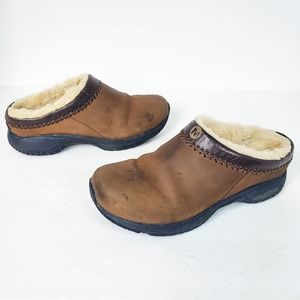 Merrell Encore Chill Stitch Bug Brown Clogs US 9